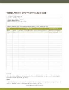 Event Run Sheet Template by Running Sheet Template For Event Fill Printable