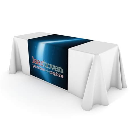 color printed table runner trade show display outlet