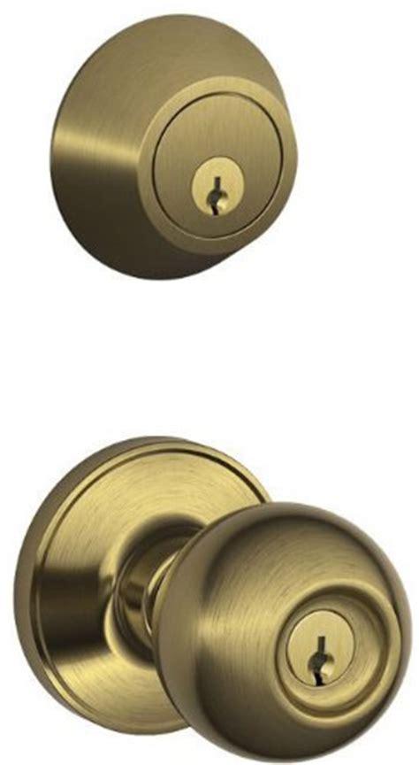 Schlage Knob And Deadbolt Set by Schlage Jc60v Cna 609 Security Set Single Cylinder
