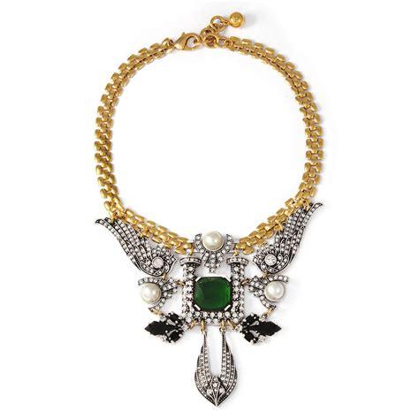 opulent emerald accessories lulu necklace