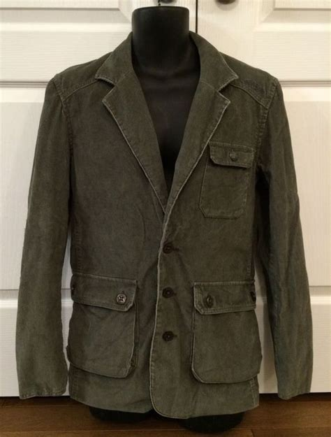 rugged sport coat details about billabong s corduroy casual rugged blazer sport coat jacket green grey small