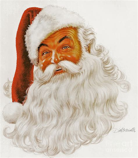 santa claus portrait painting by dick bobnick