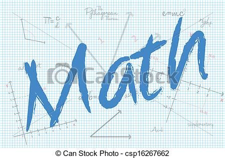Stmath At Home by Clip Vector Of School Math Class Vector Illustration