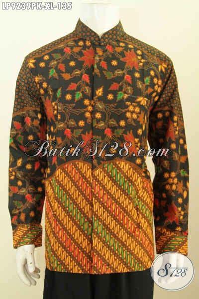 Hem Koko batik hem koko motif kombinasi pakaian batik jawa etnik