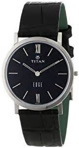 buy titan edge analog black dial men s watch nb679sl02