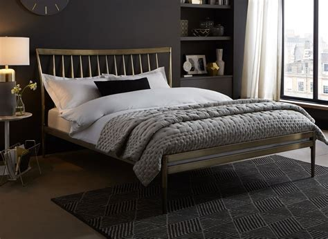 gold frame bed blake chagne gold metal bed frame dreams