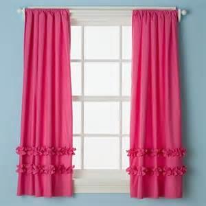 land of nod drapes pink ruffle curtain panels the land of nod