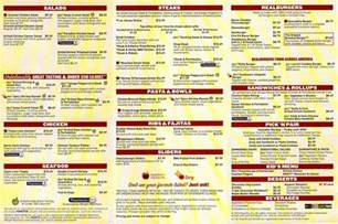 6 best images of applebee s full printable menu applebee s menu applebee s take out menu