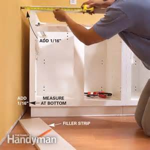 installing used kitchen cabinets installing kitchen cabinets the family handyman