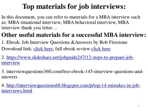 Mba Career Link by 80 Mba Questions And Answers