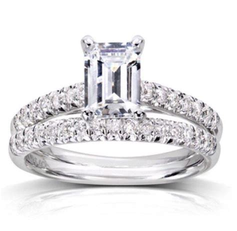 Wedding Bands With Solitaire by Emerald Cut Solitaire Engagement Ring Wedding