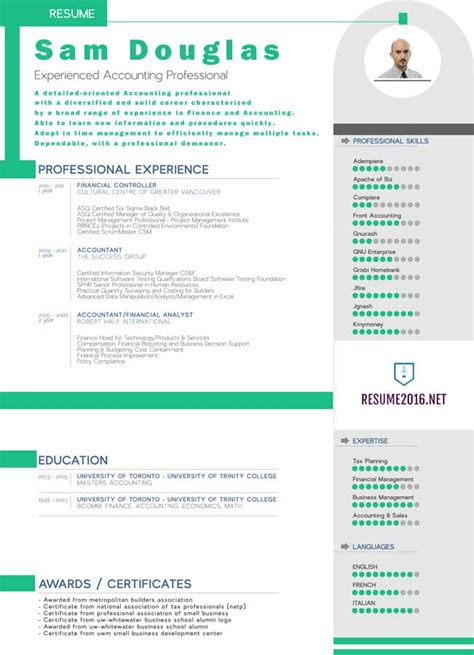 Resume 2016 Template by 20 Awesome Resume Templates 2016 Get Employed Today