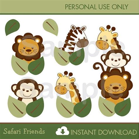safari clipart best 25 jungle animals ideas on