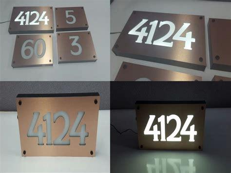 led lighted address signs illuminated house signs medium pasadena illuminated number