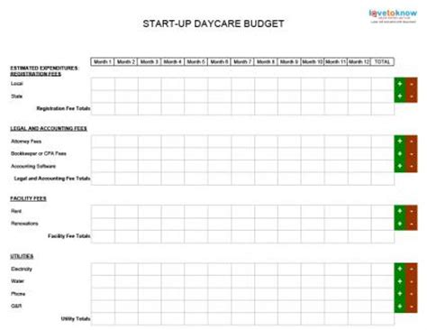 child care budget template best photos of day care monthly budget template daycare