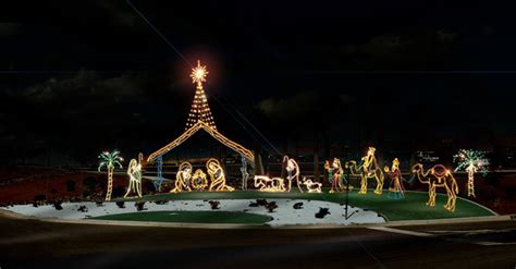 outdoor lighted nativity displays commercial grade nativity temple display