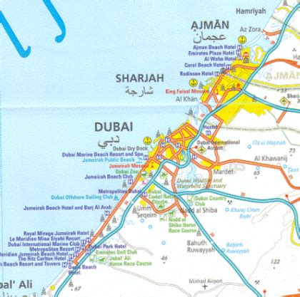 dubai geography map dubai map see the geography of dubai closely with this map