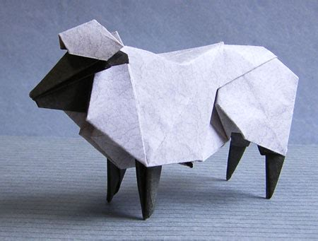 Origami Sheep - hideo komatsu website update origami tessellations