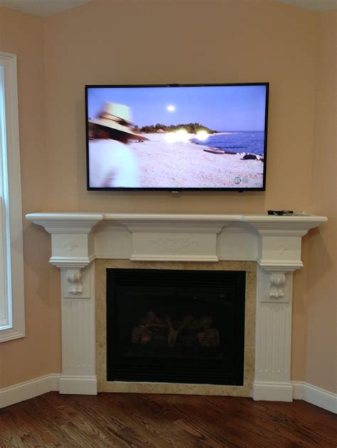 tv fireplace cable box residential projects
