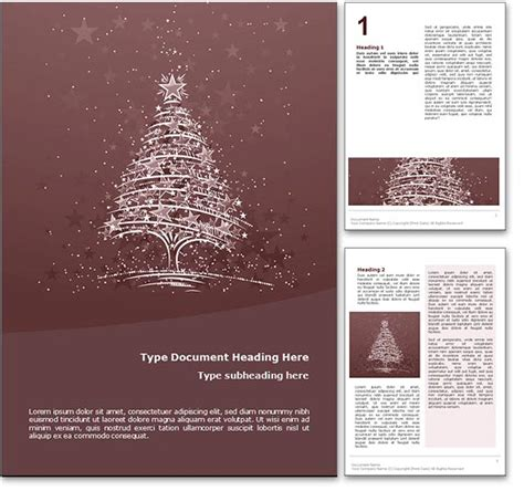 royalty free christmas microsoft word template in red