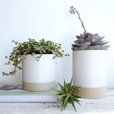 Sand Planters by White And Sand Ceramic Planter Pot By Lilac Coast