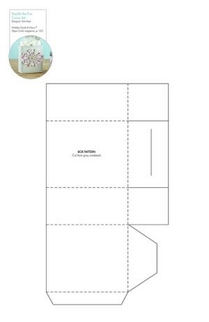 note card box template free note card box pattern template