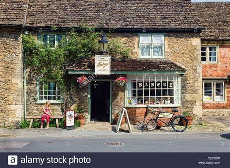 Small Bay Window the old bakery shop in lacock village wiltshire england uk