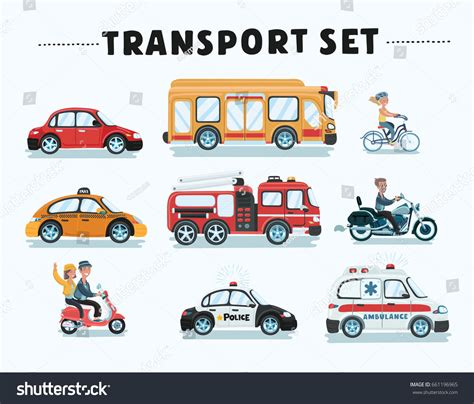 Car Types Of Service by Vector Set Different Type Stock Vector