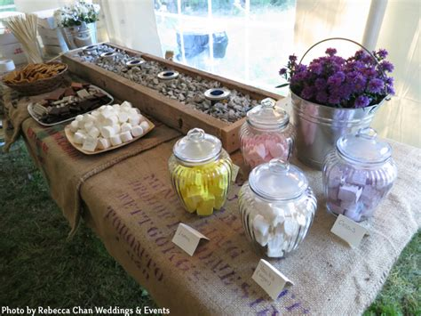 smores at wedding reception how to hold an outdoor tented wedding reception