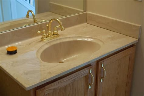 Polished Brass Kitchen Faucets remodelaholic painted bathroom sink and countertop makeover