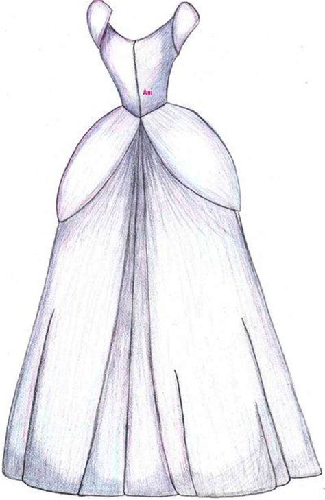 How To Draw Cinderella Dress How To Draw A Disney Princess Dress Free Coloring Sheets