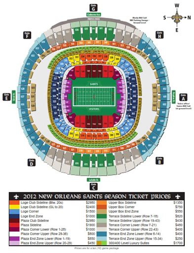 mercedes dome new orleans seating chart mercedes superdome new orleans seating chart