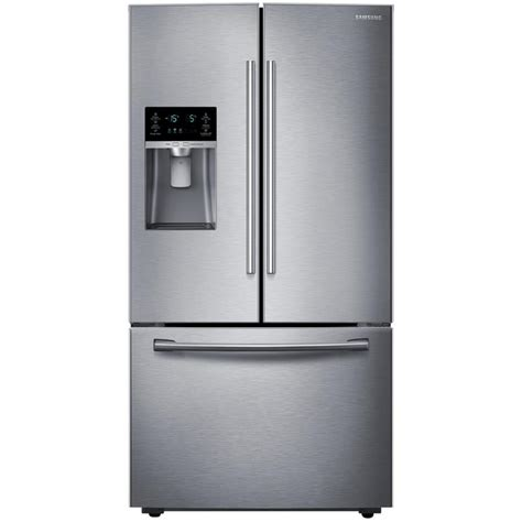 samsung fridge shop samsung 28 07 cu ft door refrigerator with dual maker stainless steel energy