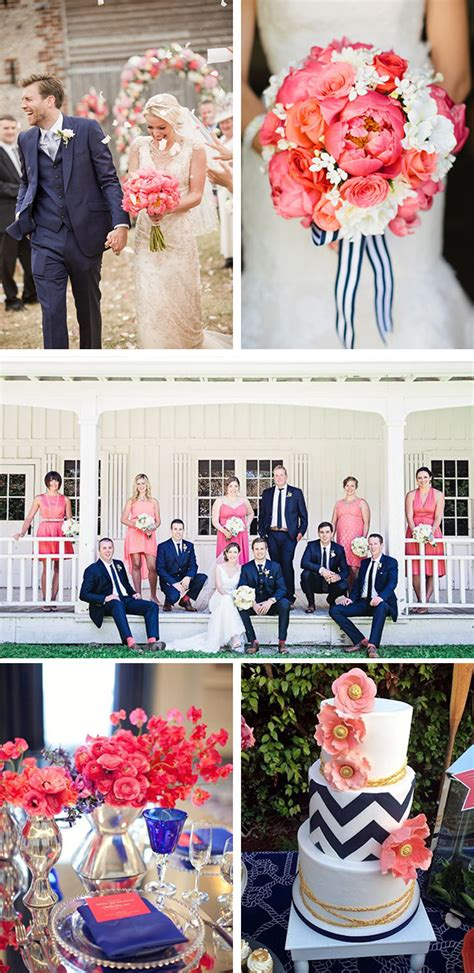navy and coral wedding ideas pink the destination wedding jet fete by bridal