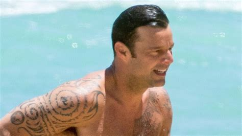 Ricky Martin Shows Off His Buff Bod as He Hits the Beach