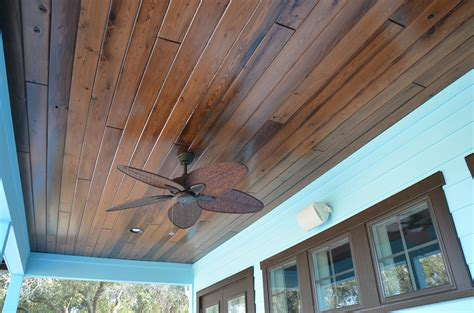Exterior Wood Ceiling Planks by Stained Patio Ceiling Www Gradschoolfairs