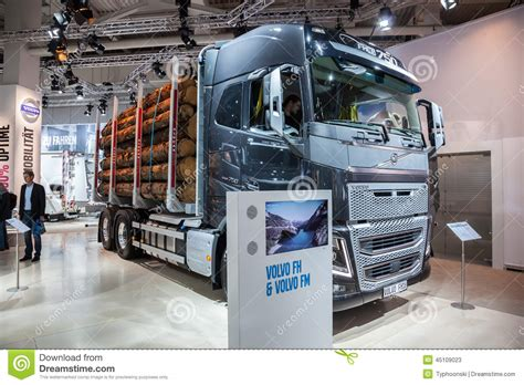 volvo commercial vehicles volvo fh16 logging truck editorial stock photo image of