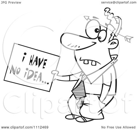 Girlawhirl Has No Idea How To Sign On An Email by Clipart Outlined Dumb With An Arrow Through His