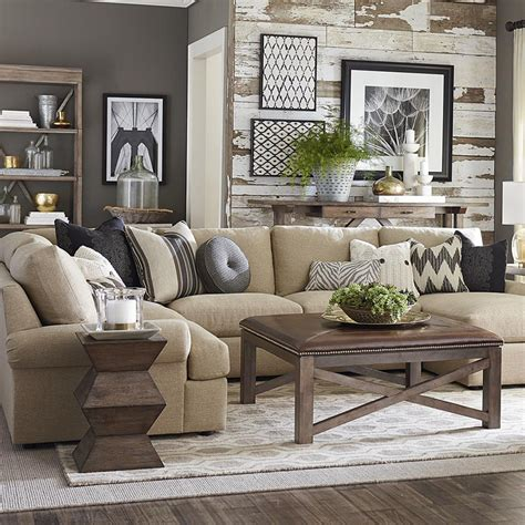Barrett Furniture by Bassett 2607 Ursect Sutton U Shaped Sectional Discount Furniture At Hickory Park Furniture Galleries