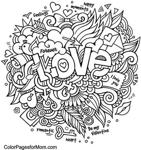 romantic mandala coloring pages doodle love colouring colouring pages pinterest