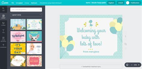 Desain Kartu Ucapan Kelahiran Anak | buat desain kartu ucapan kelahiran bayi unik dan lucu