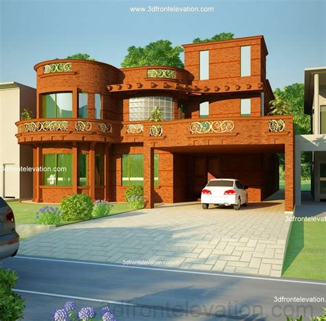 pakistani new home designs exterior views 3d front elevation com 5 10 marla house plan 3d front