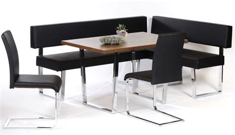 black leather corner bench breakfast nook dining booth