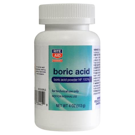 Bor Ic Boric Acid Powder Nf 100 Talc Free 4 Oz Rite Aid
