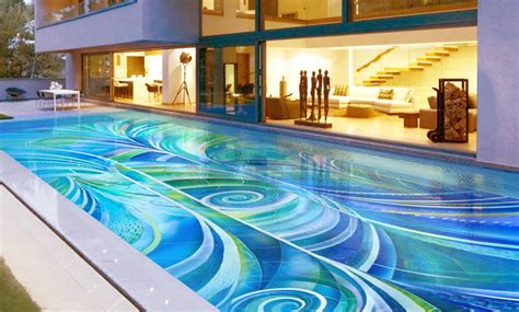 Rust Colored Area Rugs Art Deco Swimming Pool Craig Bragdy Design Pools