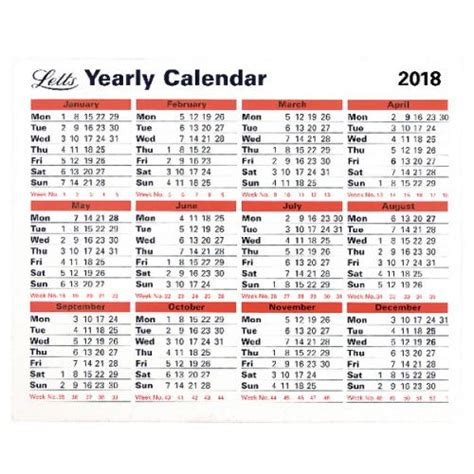 What Calendar Year Is The Same As 2018 Letts Yearly Calendar 2018 5 Tyc Ltyc18