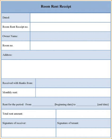 Free Rent Receipt Template Pdf by Free Rent Receipt Template Template Business