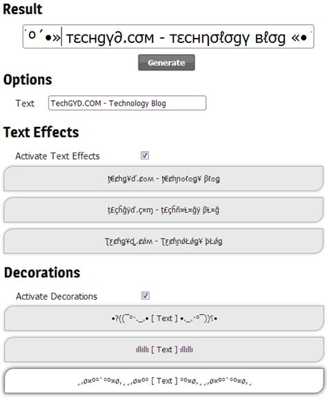 decoration text generator create stylish facebook status with stylish facebook text