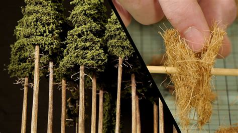 How To Make Model Trees From Paper - forest pine trees model railroad scenery