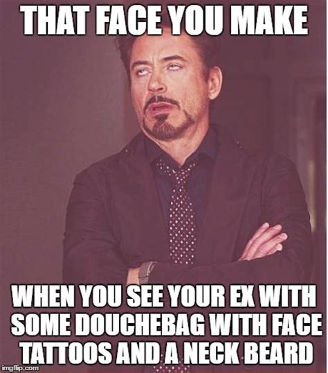 douchebag tattoos you make robert downey jr meme imgflip